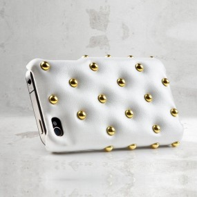 Funky Punky Leather iPhone 4 (White)