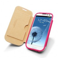 Samsung Galaxy S3 Leather Case Folio (Pink)