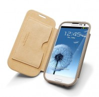 Samsung Galaxy S3 Leather Case Folio (Sand Brown)